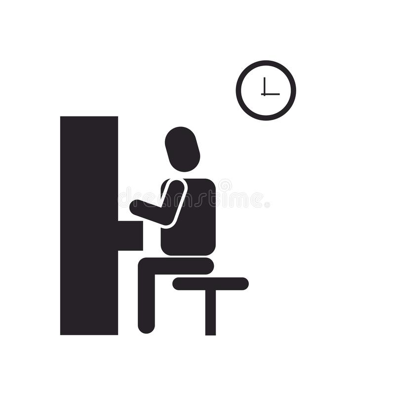 Знак и символ вектора значка рояля изолированные на белой предпосылке иллюстрация вектора