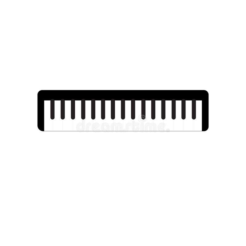 Знак и символ вектора значка рояля изолированные на белой предпосылке, концепции логотипа рояля бесплатная иллюстрация