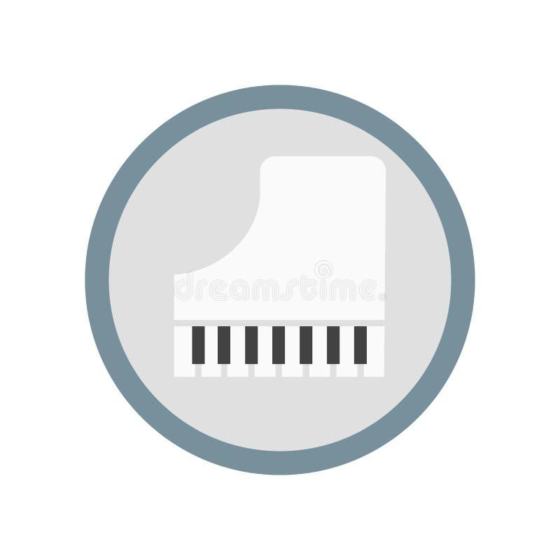 Знак и символ вектора значка рояля изолированные на белой предпосылке, концепции логотипа рояля иллюстрация вектора
