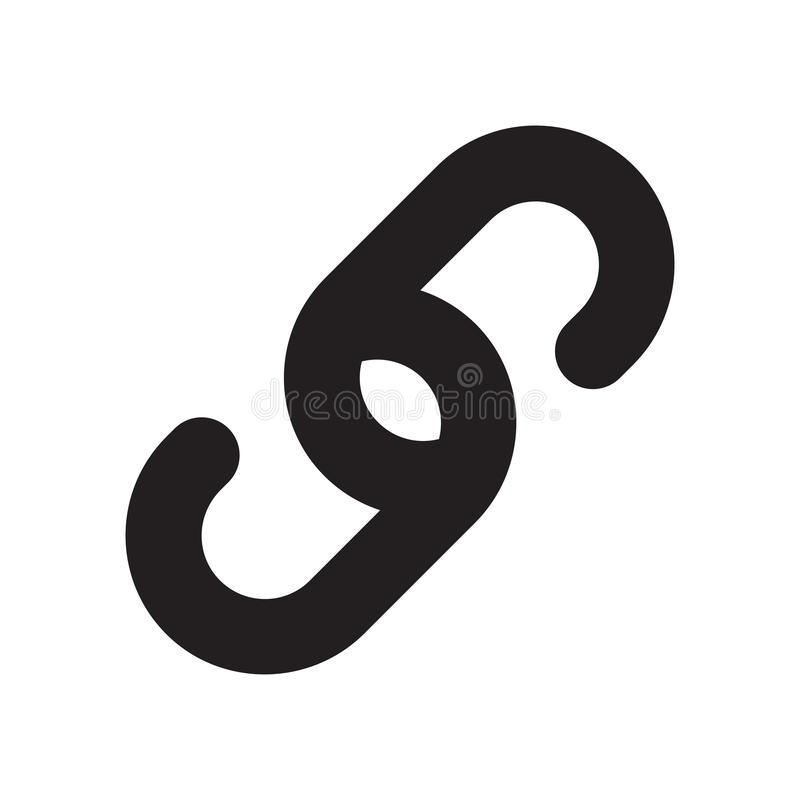 Знак и символ вектора значка связи изолированные на белой предпосылке, концепции логотипа связи бесплатная иллюстрация