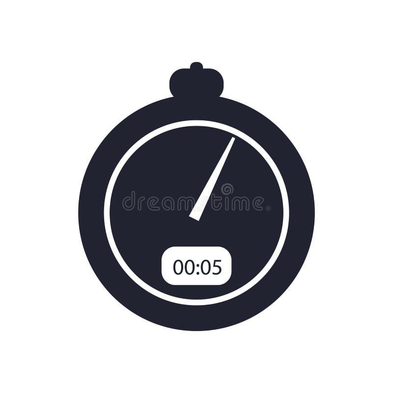 Знак и символ вектора значка секундомера изолированные на белой предпосылке, концепции логотипа секундомера иллюстрация вектора