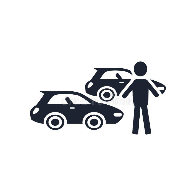 Знак и символ вектора значка собрания автомобиля изолированные на белом bac иллюстрация вектора