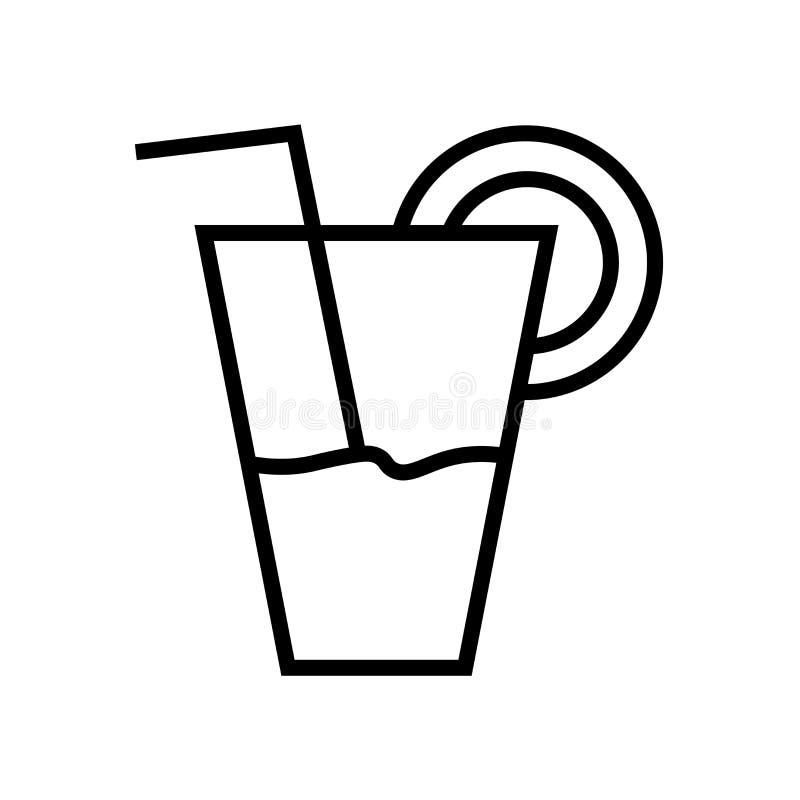 Знак и символ вектора значка сока изолированные на белой предпосылке, концепции логотипа сока бесплатная иллюстрация