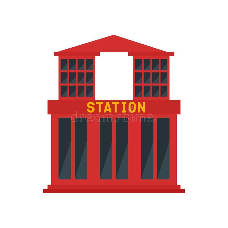 Знак и символ вектора значка станции изолированные на белой предпосылке, концепции логотипа станции иллюстрация штока