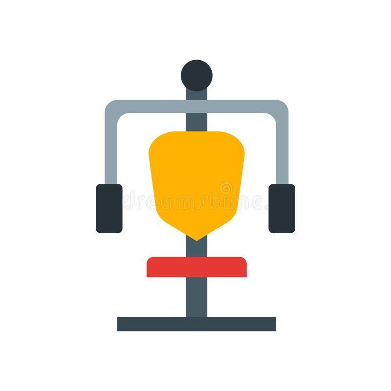 Знак и символ вектора значка станции спортзала изолированные на белом backgr иллюстрация штока
