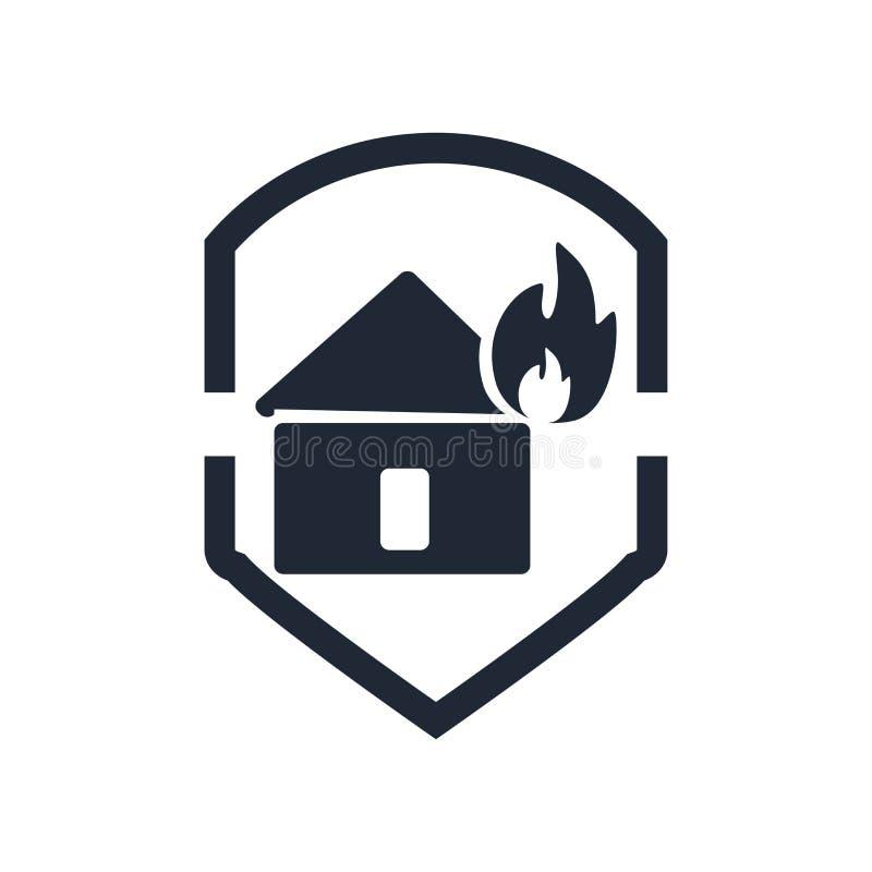 Знак и символ вектора значка страхования изолированные на белом backgrou иллюстрация штока
