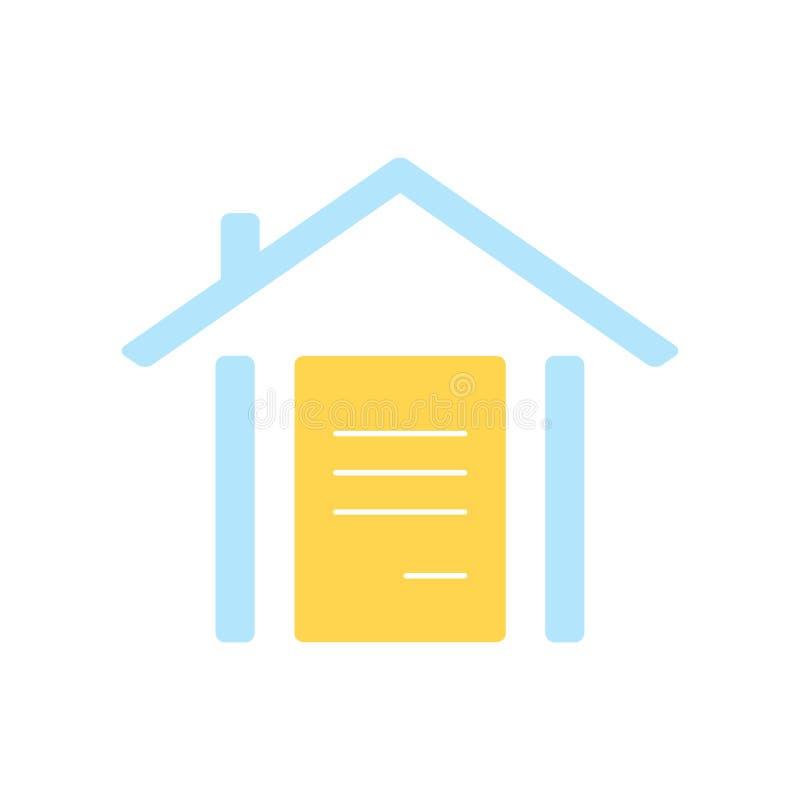 Знак и символ вектора значка страхования изолированные на белом backgrou иллюстрация вектора