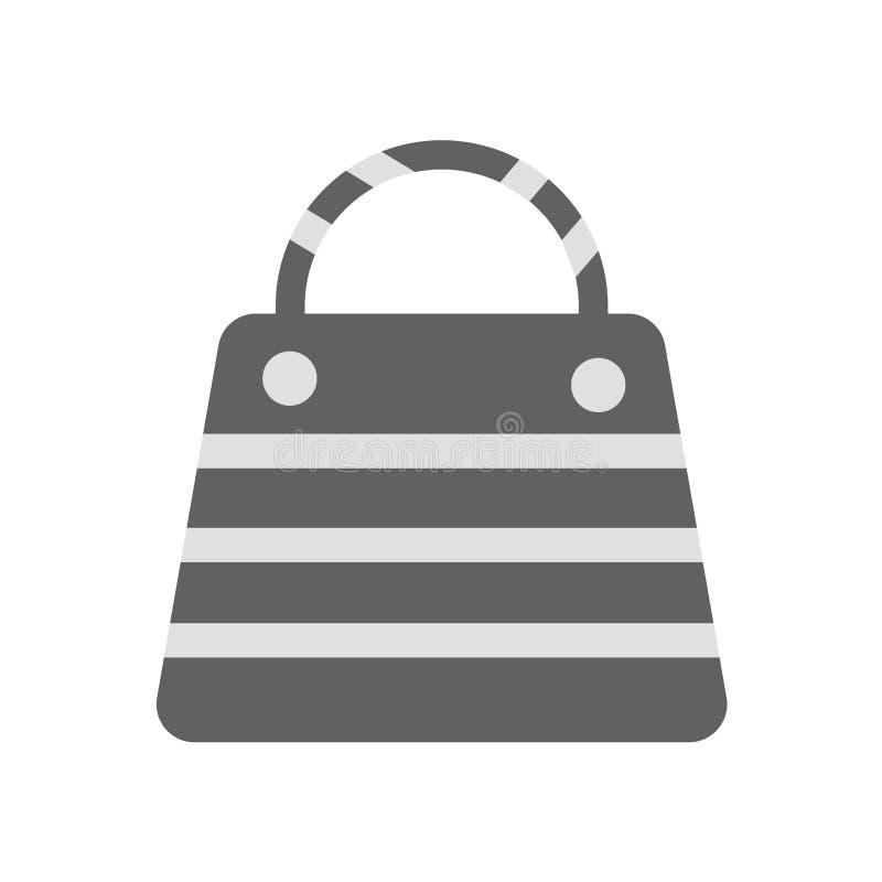 Знак и символ вектора значка сумки изолированные на белой предпосылке, концепции логотипа сумки иллюстрация штока