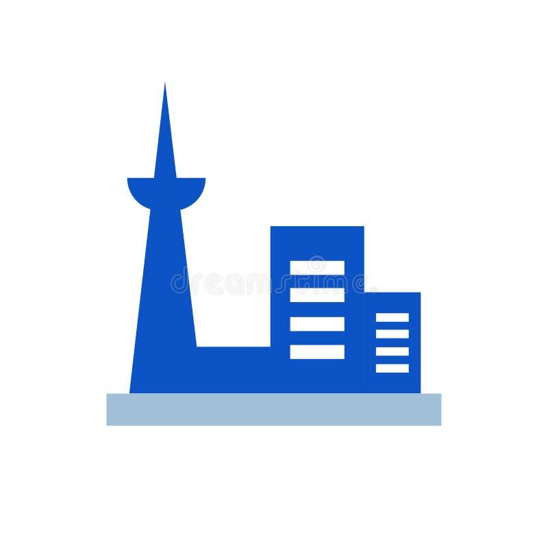 Знак и символ вектора значка Торонто изолированные на белой предпосылке иллюстрация штока