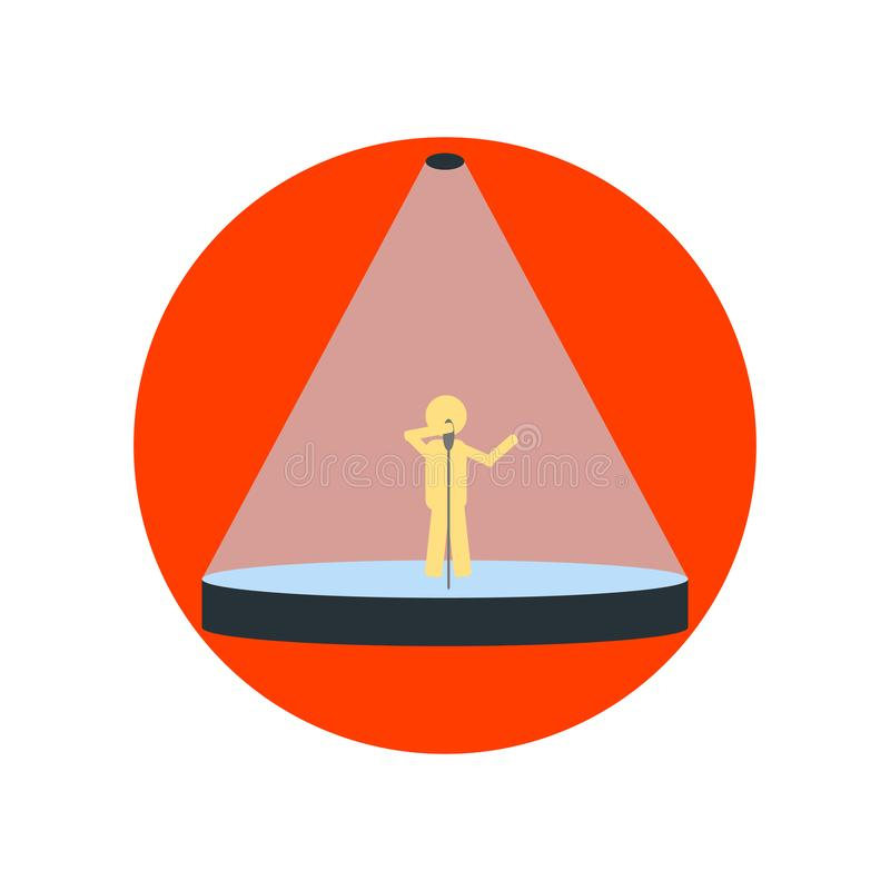 Знак и символ вектора значка фары изолированные на белом backgrou бесплатная иллюстрация