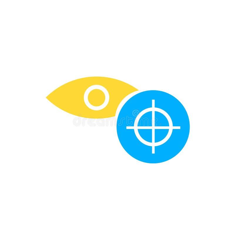 Знак и символ вектора значка фокуса изолированные на белой предпосылке, концепции логотипа фокуса бесплатная иллюстрация