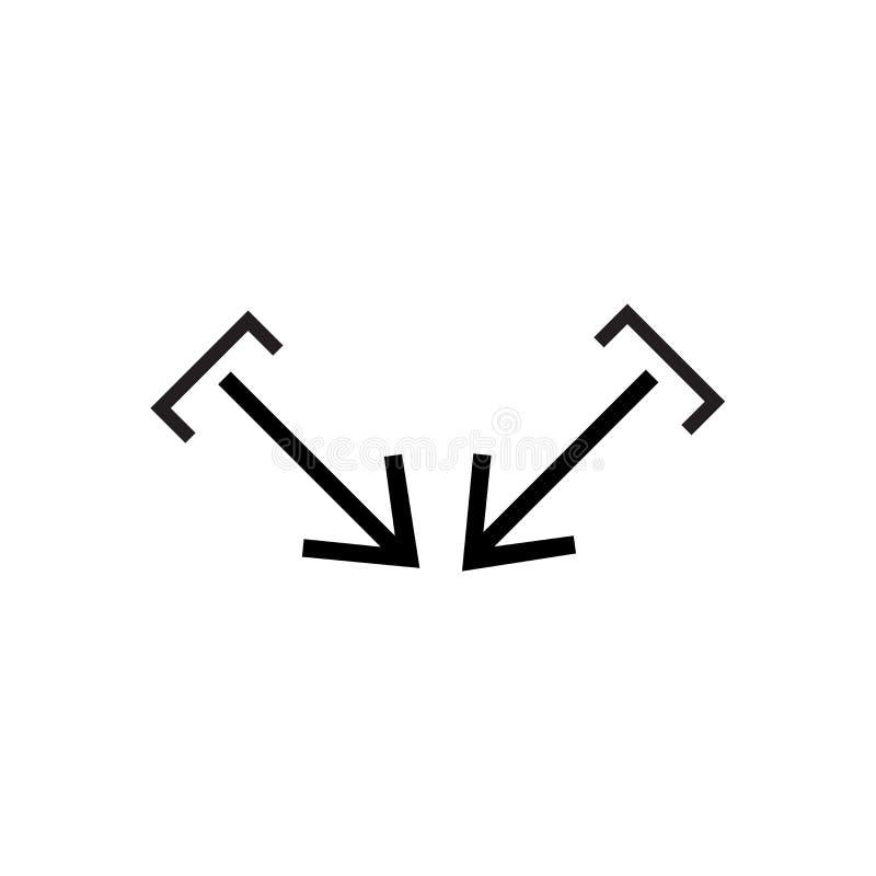 Знак и символ вектора значка фокуса изолированные на белой предпосылке, концепции логотипа фокуса иллюстрация штока