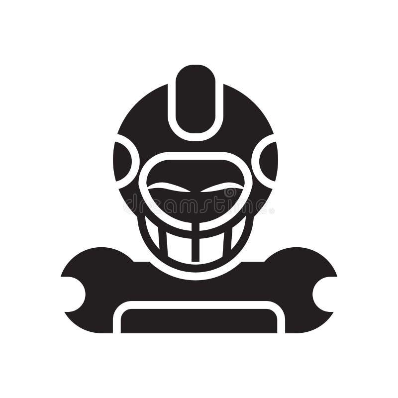 Знак и символ вектора значка футбола изолированные на белом backgroun бесплатная иллюстрация