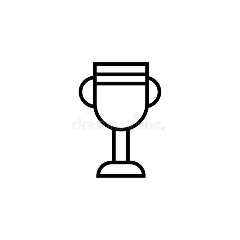 Знак и символ вектора значка чашки американского футбола изолированные на белой предпосылке, концепции логотипа чашки американско бесплатная иллюстрация