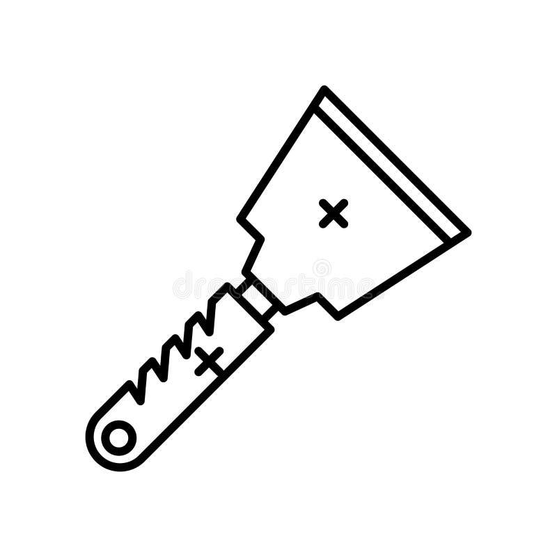 Знак и символ вектора значка шабера изолированные на белой предпосылке, концепции логотипа шабера иллюстрация штока