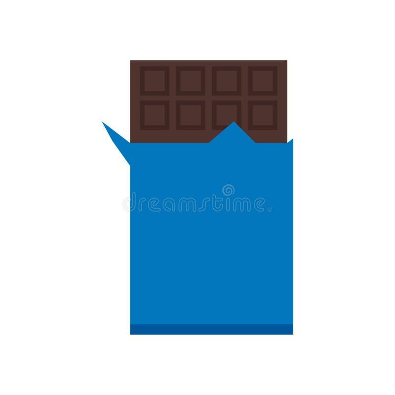 Знак и символ вектора значка шоколада изолированные на белой предпосылке, концепции логотипа шоколада иллюстрация штока