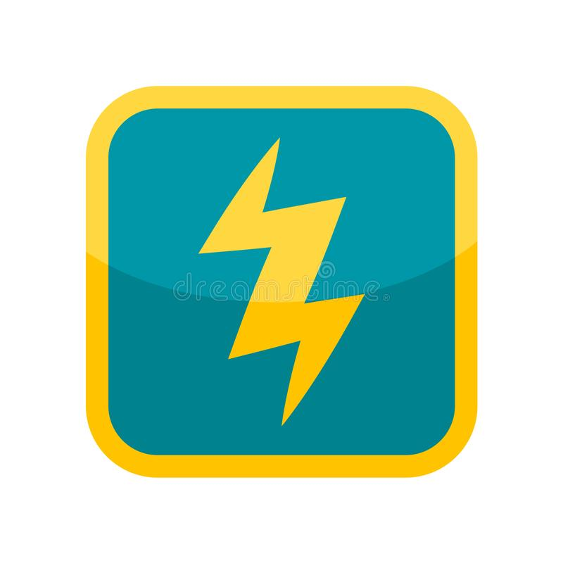 Знак и символ вектора значка электричества изолированные на белом backgr иллюстрация штока