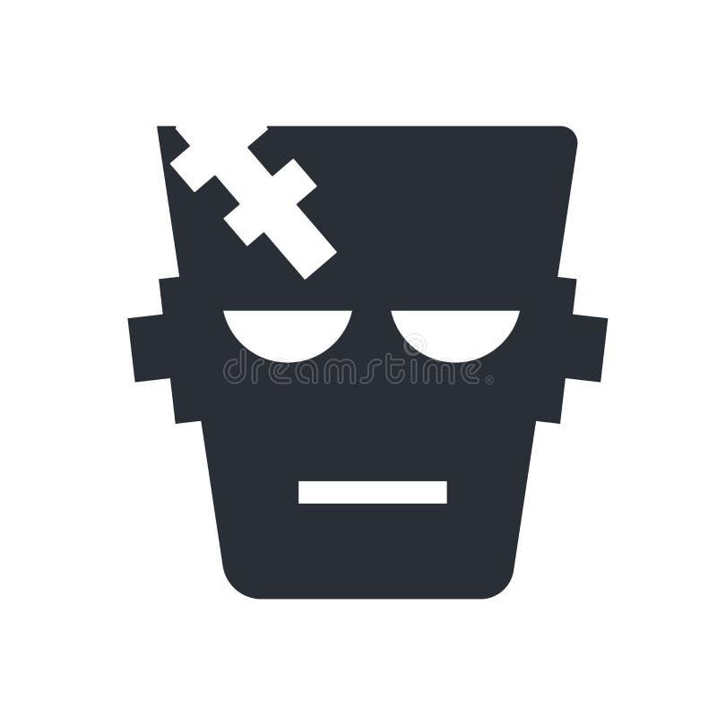 Знак и символ вектора значка Frankenstein изолированные на белом backg бесплатная иллюстрация