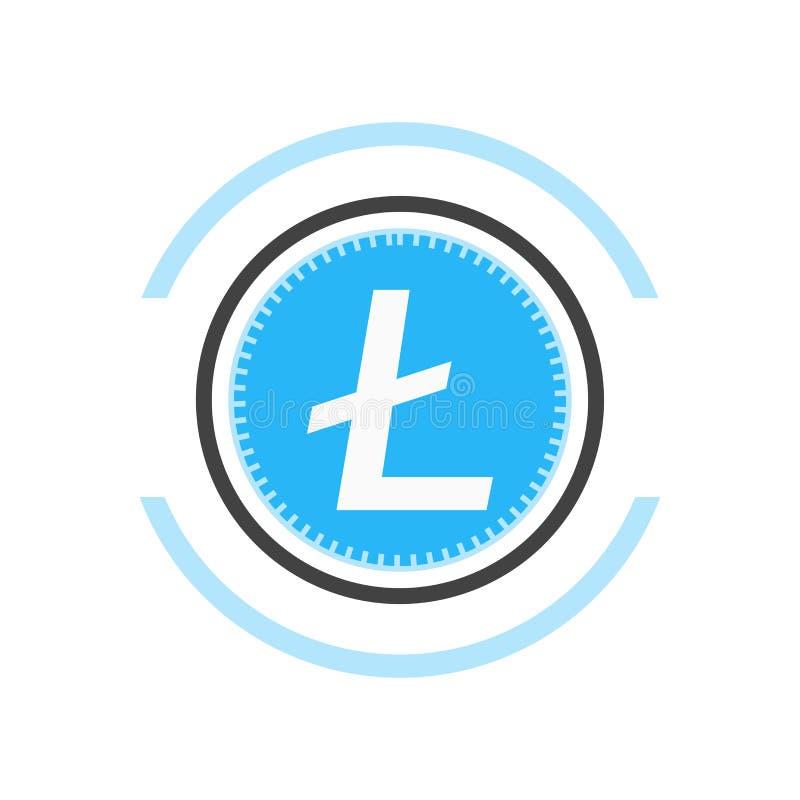 Знак и символ вектора значка Litecoin изолированные на белой предпосылке, концепции логотипа Litecoin бесплатная иллюстрация