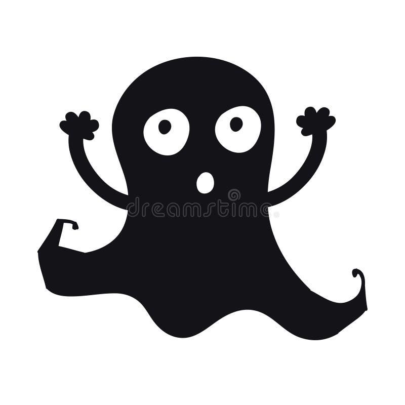 Знак и символ призрака пугающе Handdrawn элемент дизайна на хеллоуин Изверг Doodle бесплатная иллюстрация