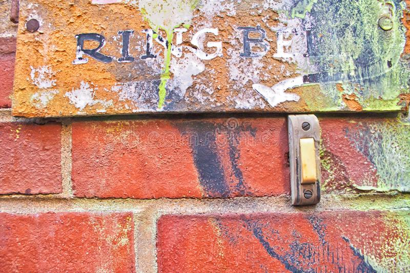 Знак колокола кольца с граффити стоковое изображение