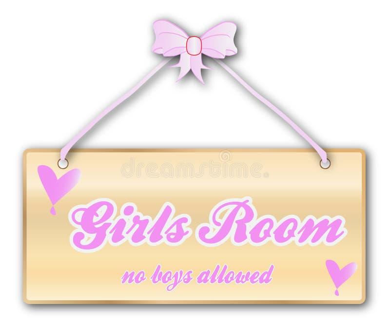 Знак комнаты девушек иллюстрация вектора