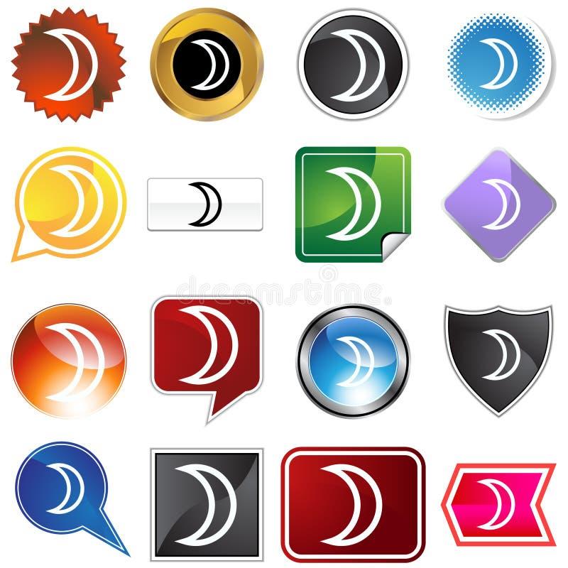 знак комплекта луны иконы планетарный бесплатная иллюстрация