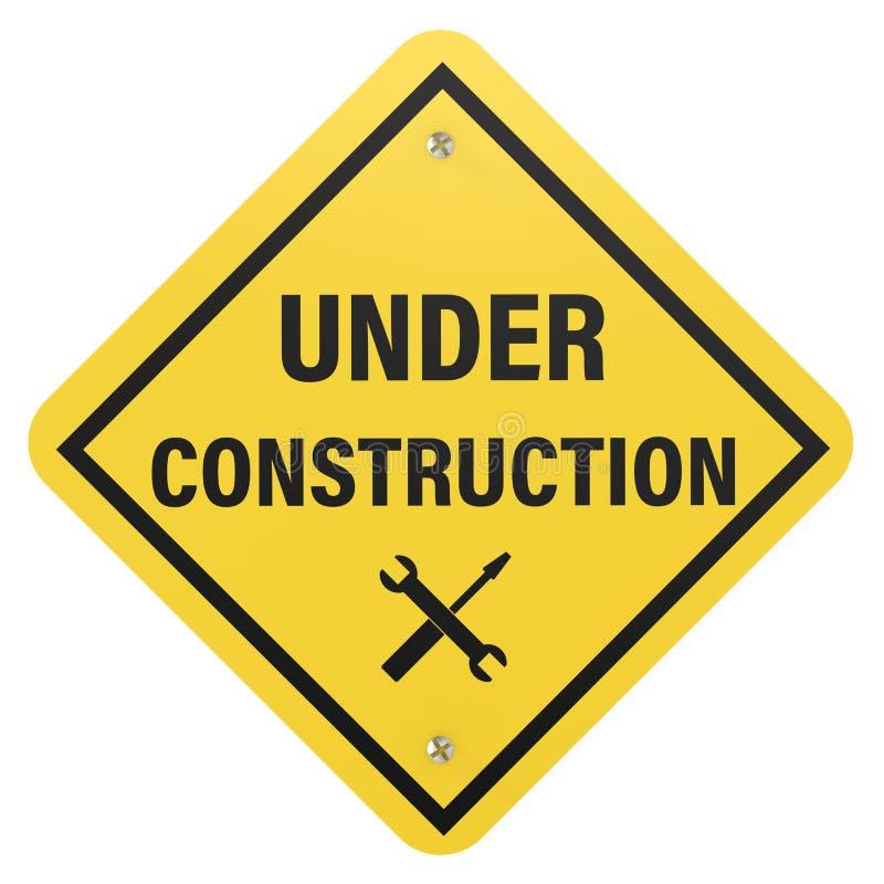 знак конструкции вниз стоковая фотография