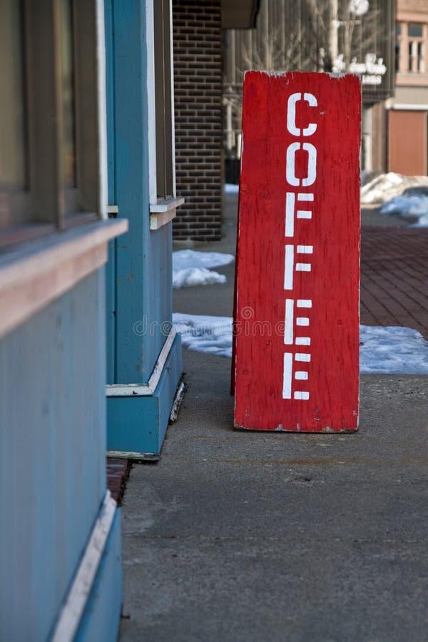 Знак кофейни стоковое изображение