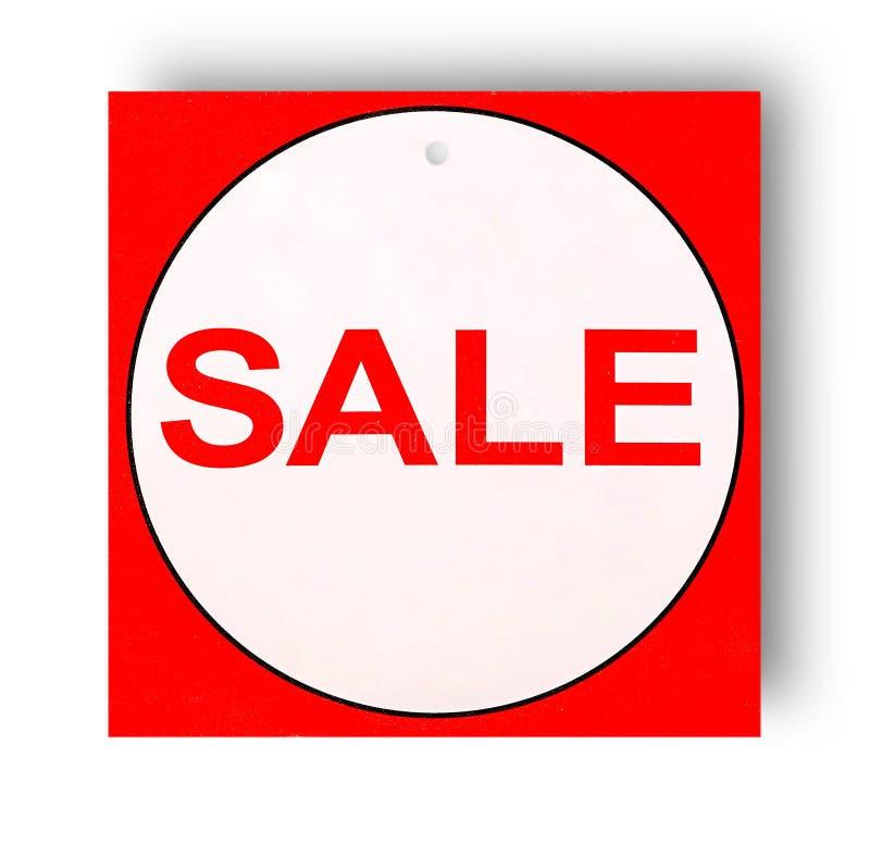 Знак красной и белой продажи стоковые фото