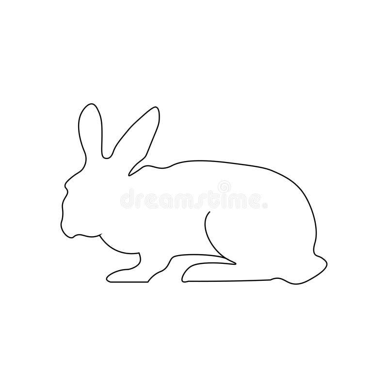 Знак кролика - тонкие линии иллюстрация вектора