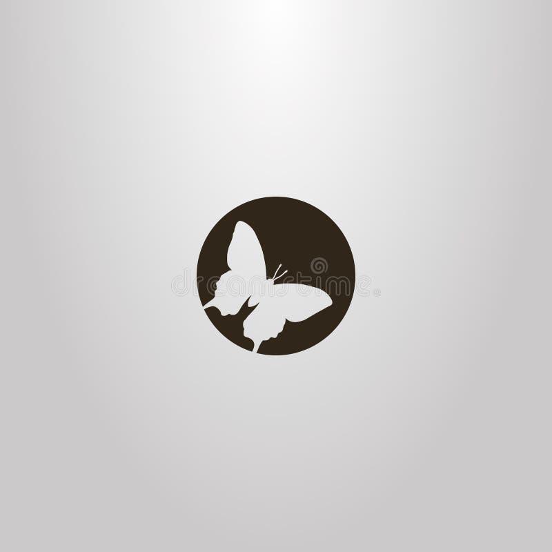 Знак круга космоса плоского искусства вектора отрицательный бабочки бесплатная иллюстрация