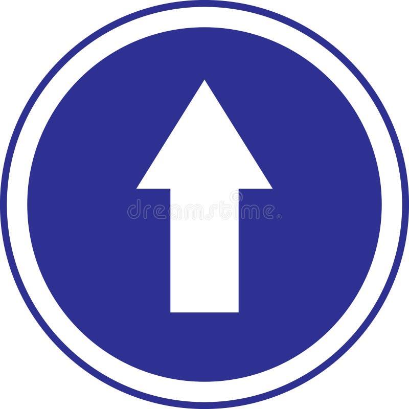 знак круга стрелки голубой стоковое фото