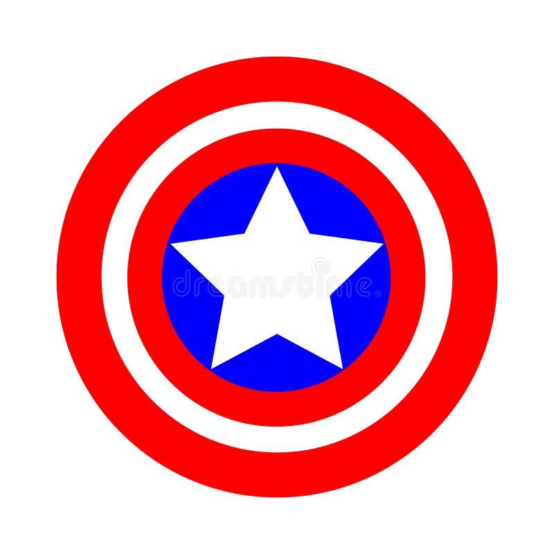 Знак круглого экрана в национальных цветах флага Америки иллюстрация вектора