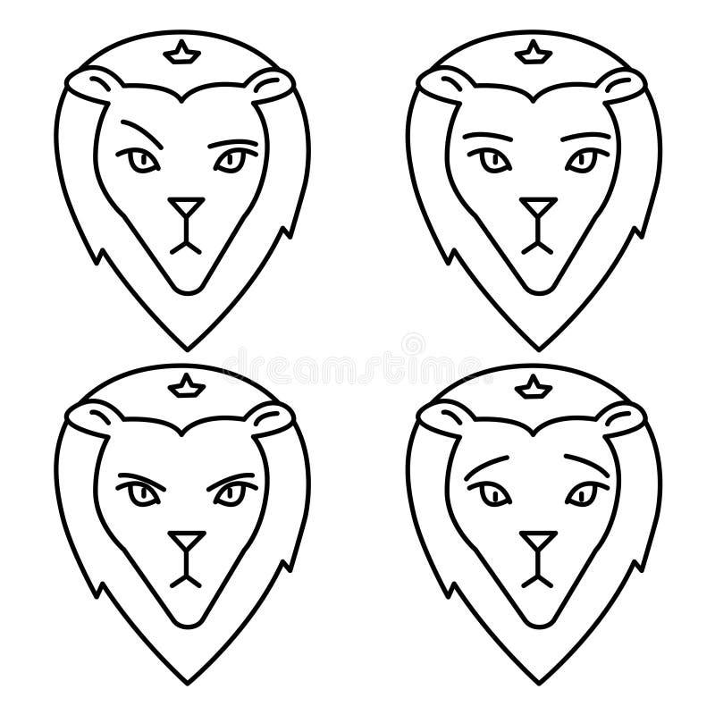 Знак льва равнодушие тоскливость злобность бесплатная иллюстрация