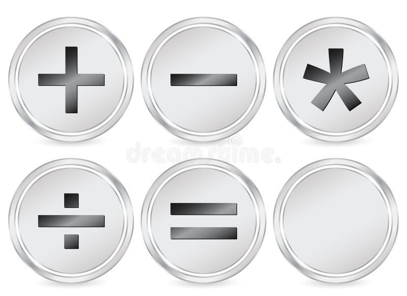 знак математики иконы круга иллюстрация вектора