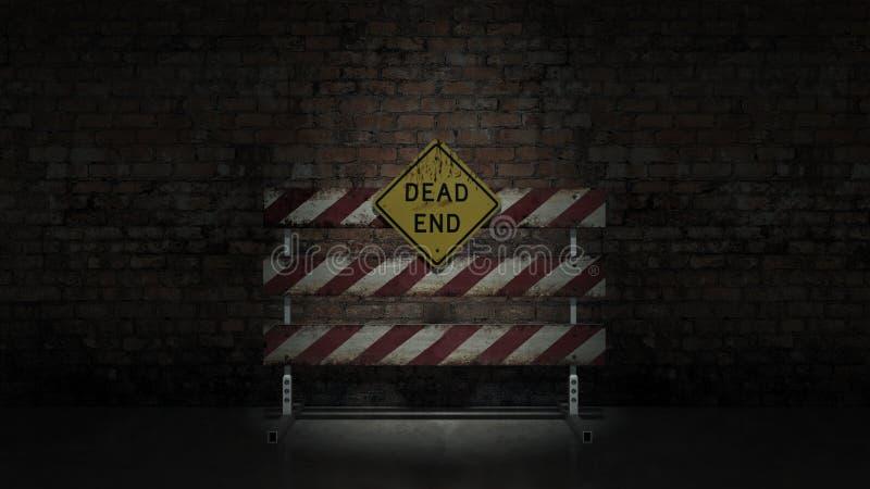 Знак мертвого конца смог представить различные работы или отношения стоковое изображение