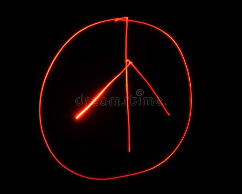 Знак мира покрашенный светом стоковое фото rf