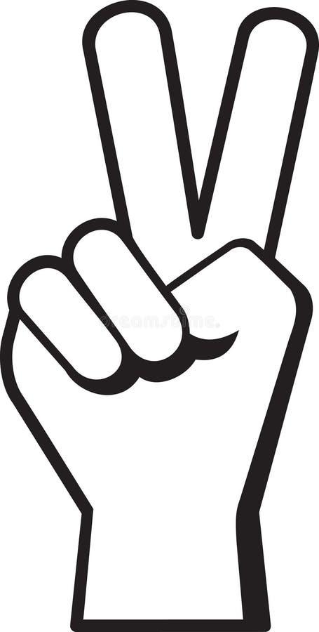 знак мира руки