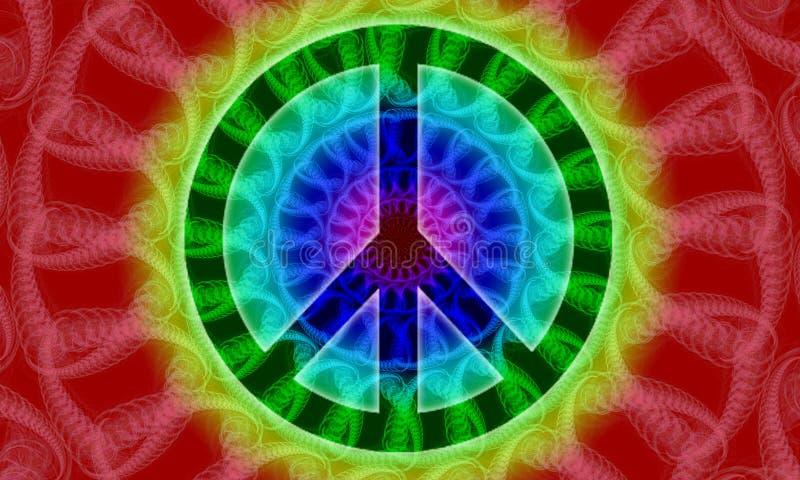 знак мира 2 фракталей иллюстрация вектора