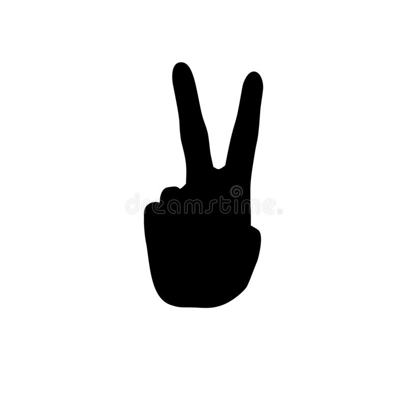 Знак мира v Hippie иллюстрация штока