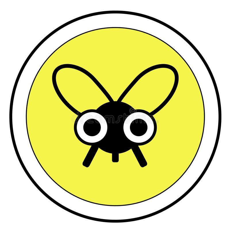знак мухы стоковое изображение
