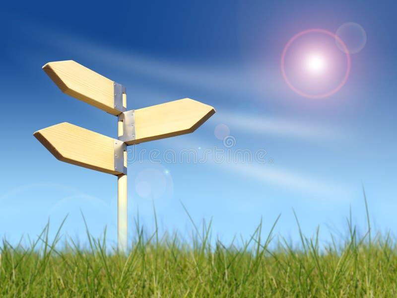 знак направления стоковое изображение