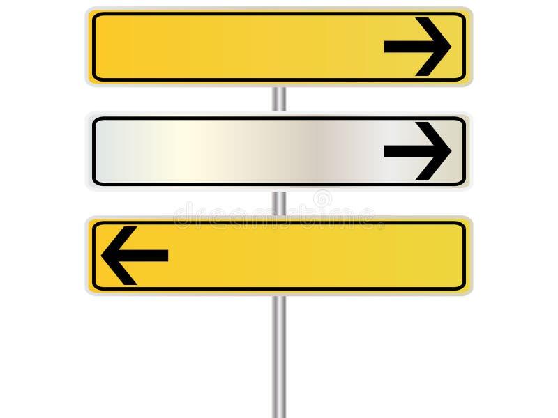знак направления иллюстрация вектора