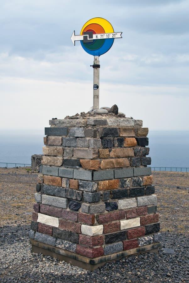 знак Норвегии севера плащи-накидк стоковая фотография