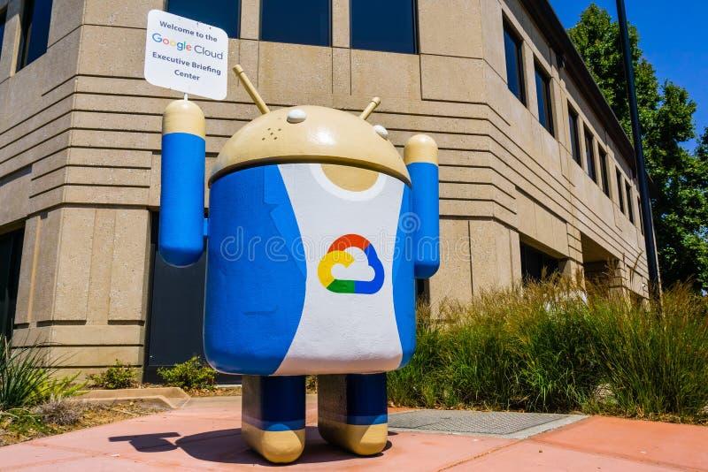 Знак облака Google стоковая фотография