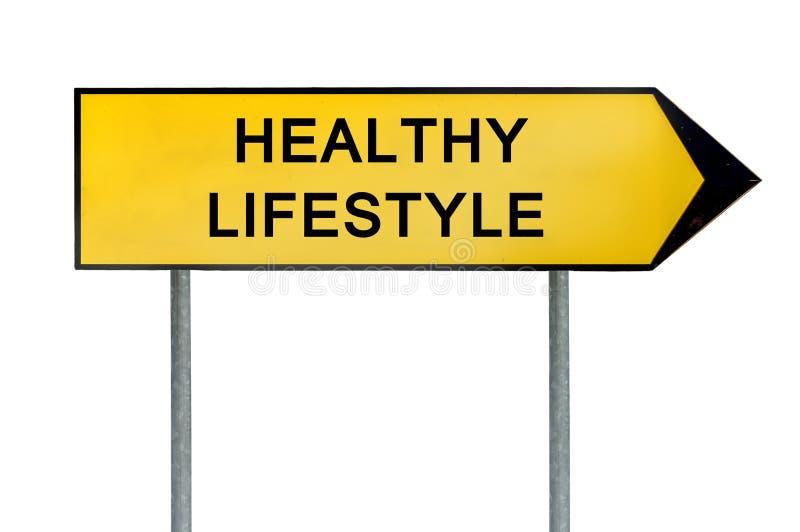 Знак образа жизни желтой концепции улицы здоровый стоковые изображения rf