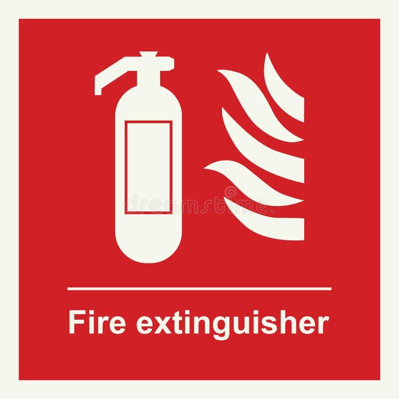 Знак огнетушителя иллюстрация штока