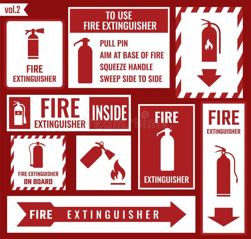 Знак огнетушителя бесплатная иллюстрация