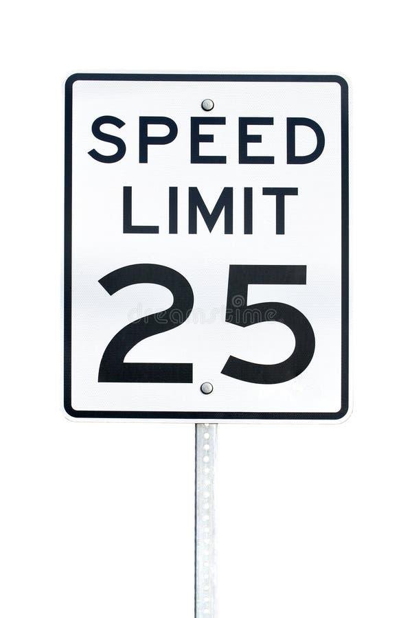 Знак ограничения в скорости стоковые фото